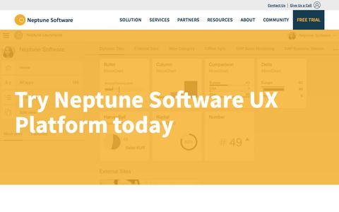 Screenshot of Trial Page neptune-software.com - Download and Start Free Trial today | Neptune Software - captured Feb. 2, 2018