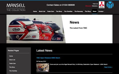 Screenshot of Press Page themansellcollection.co.uk - The Mansell Collection :: News - captured Oct. 9, 2014