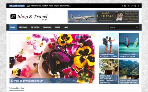 Screenshot of Home Page stguides.com - Home | Shop & Travel Guides - captured Oct. 4, 2014