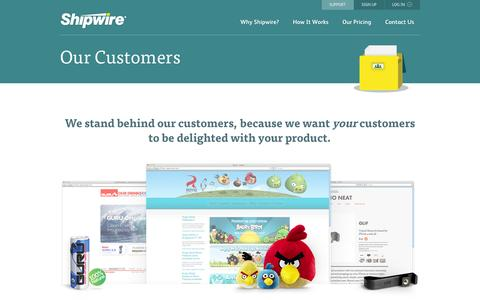 Screenshot of Case Studies Page shipwire.com - Order fulfillment case studies | Shipwire - captured Oct. 28, 2014