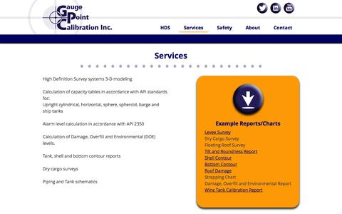 Screenshot of Services Page gaugepoint.com - Services | - captured Nov. 1, 2014