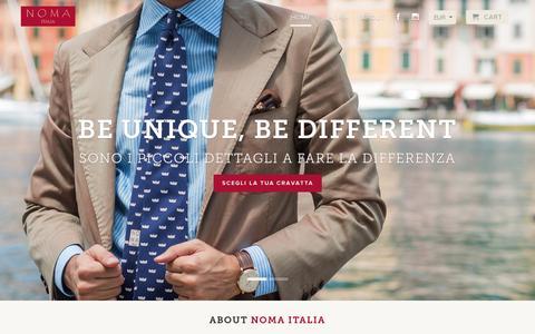 Screenshot of Home Page nomaitalia.com - Noma Italia - captured Sept. 30, 2014