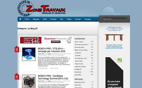 Screenshot of Blog zonetravaux.fr - Le Blog ZT | Zone Travaux, bricolage, décoration, outillage, jardinage - captured Sept. 23, 2014