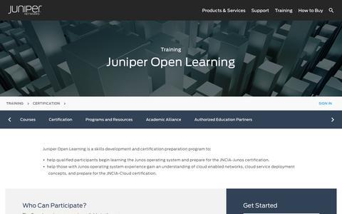 Network Certification Program - Open Learning - Juniper Networks