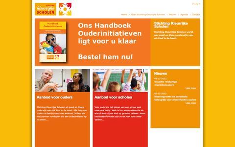 Screenshot of Home Page kleurrijkescholen.nl - Home | SKS - captured Oct. 7, 2014