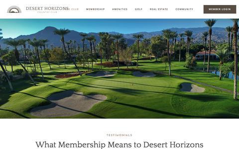 Screenshot of Testimonials Page deserthorizonscc.com - Testimonials - Desert Horizons Country Club - captured June 29, 2018