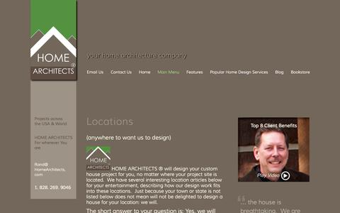 Screenshot of Locations Page homearchitects.com - Locations | Mountain Home Architects, Timber Frame Architect, Custom Homes - captured Sept. 26, 2014