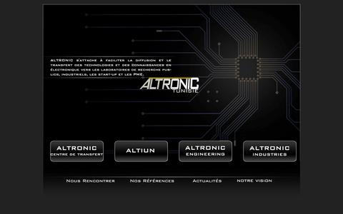 Screenshot of Home Page groupe-altronic.com - Altronic  - Solutions de conception Electronique, PCB et Systemes Embarques- Tunisie - France - Maroc - captured Oct. 4, 2014