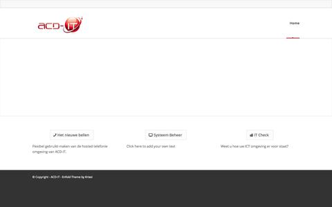 Screenshot of Home Page acd-it.nl - ACD-IT | - captured Sept. 30, 2014