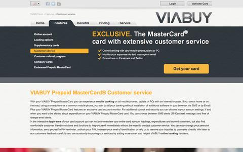Screenshot of Support Page viabuy.com - Service experience   VIABUY Prepaid MasterCard - captured Dec. 23, 2016