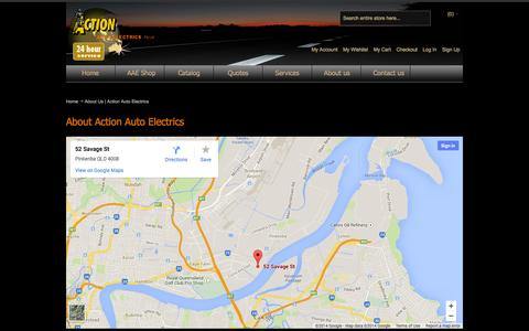 Screenshot of About Page actionauto.com.au - About Us | Action Auto Electrics - captured Oct. 4, 2014