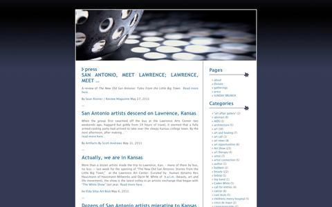 Screenshot of Press Page wordpress.com - press | b.a.l.m - captured Sept. 12, 2014