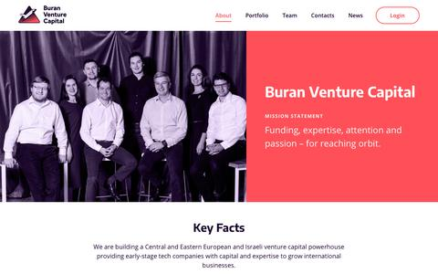 Screenshot of About Page buranvc.com - About - BuranVC : BuranVC - captured Nov. 13, 2018