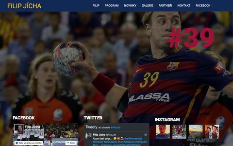 Screenshot of Home Page filipjicha.com - Filip Jícha - profesionální házenkář - oficiální webové stránky - captured June 7, 2016