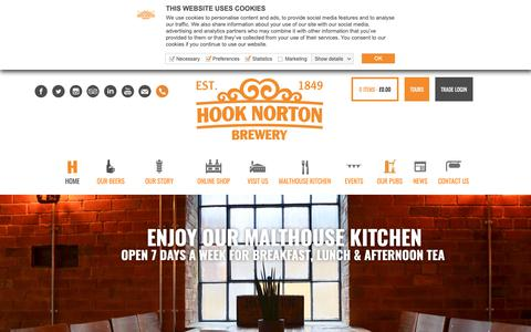 Screenshot of Home Page hooky.co.uk - Welcome to Hook Norton Brewery | Award-winning real ales and bottled beers - captured Sept. 29, 2018