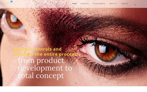 Screenshot of Home Page mondialcosmetics.com - Mondial Cosmetics - captured Oct. 20, 2018