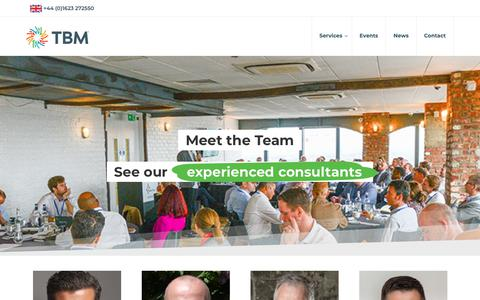 Screenshot of Team Page tbmcg.co.uk - Meet The Team | Discover Our Team Of Lean Management Consultants - captured Nov. 22, 2018