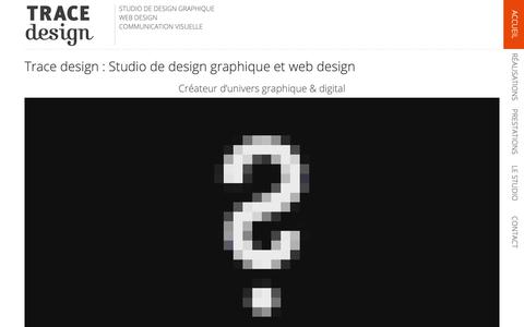 Screenshot of Home Page trace-design.fr - Studio de design graphique et web design | TRACE design - captured Nov. 16, 2018