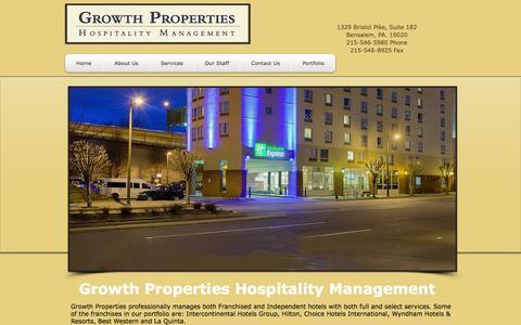 Screenshot of Home Page gpim.net - hotel management companies - captured Oct. 3, 2014