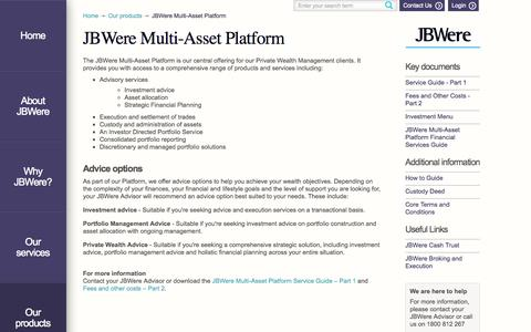 Screenshot of Maps & Directions Page jbwere.com - JBWere Multi-Asset Platform - JBWere - captured Sept. 30, 2014