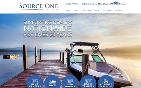 Screenshot of Home Page source1financial.com - Dealers | United States | Source One Financial Services - captured Nov. 9, 2018