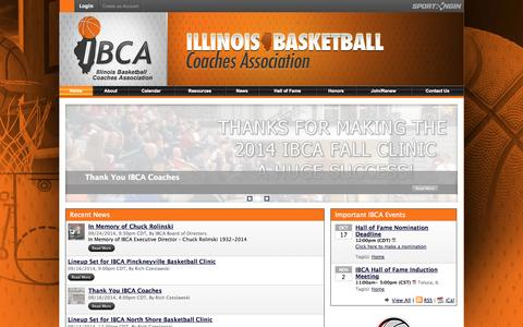 Screenshot of Home Page ibcaillinois.org - Illinois Basketball Coaches Association - captured Oct. 6, 2014