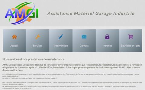 Screenshot of Services Page amgi.fr - AMGI - Nos services et prestations réglementaires en France - captured Oct. 4, 2014