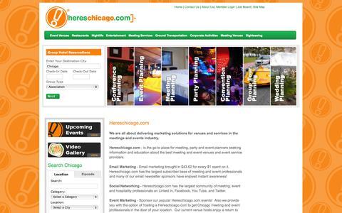Screenshot of About Page hereschicago.com - About Hereschicago.com - captured Oct. 2, 2014