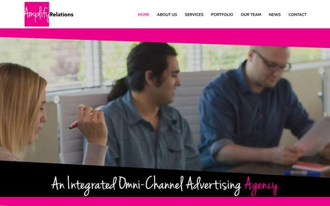 Screenshot of Home Page amplifyrelations.com - Amplify Relations is a full-service advertising and public relations agency - captured Sept. 30, 2018