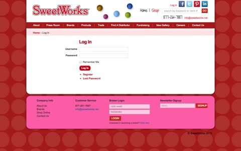 Screenshot of Login Page sweetworks.net - Log In | SweetWorks - captured Sept. 23, 2014