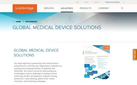 Global Medical Device Translation Expertise Lionbridge