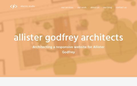 Screenshot of Case Studies Page electricstudio.co.uk - Allister Godfrey Architects   Electric Studio - captured Feb. 17, 2017