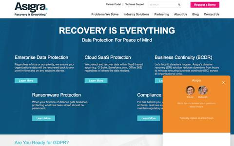 Cloud Backup Solution from the Cloud Backup Experts | Asigra