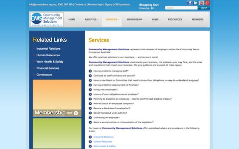 Screenshot of Services Page cmsolutions.org.au - Services-4 | Community Management Solutions - captured Oct. 2, 2014