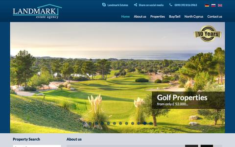 Screenshot of Home Page north-cyprus-properties-landmark.com - North Cyprus Properties,Northern Cyprus Real Estate Agents - LANDMARK estate agency - captured Oct. 21, 2016