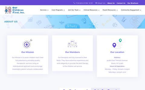 Screenshot of About Page ocfnyc.com - About Us | ocfnyc - captured Oct. 18, 2018