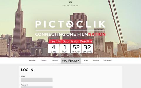 Screenshot of Login Page pictoclik.com - Log In » Pictoclik - captured Sept. 29, 2014