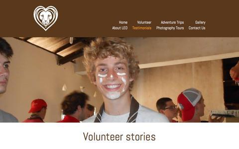 Screenshot of Testimonials Page leoproject.org - Testimonials - captured Oct. 8, 2016