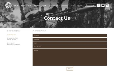 Screenshot of Contact Page silencerco.com - Contact - SilencerCo - captured Jan. 1, 2016