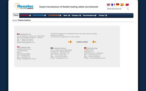 Screenshot of Locations Page flexelec.com - Flexelec locations - captured Sept. 30, 2014