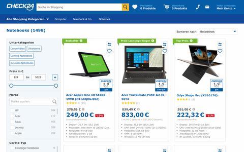 Notebook günstig im CHECK24-Preisvergleich