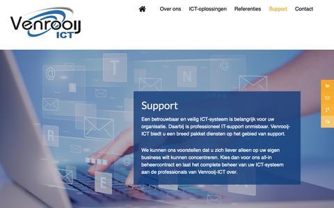 Screenshot of Support Page venrooij-ict.nl - Support - Venrooij-ICT beheer - captured Oct. 20, 2018