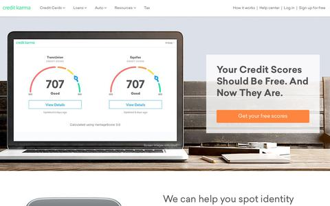 Free Credit Score &  Free Credit Reports With Monitoring | Credit Karma