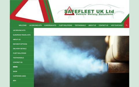 Screenshot of Press Page safefleet.co.uk - News - Safefleet - captured Jan. 21, 2016