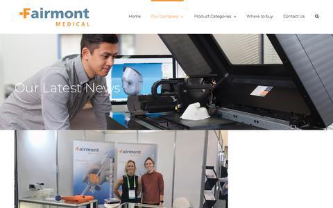 Screenshot of Press Page fairmontmedical.com.au - News - Fairmont Medical Products Australia - captured Aug. 12, 2018