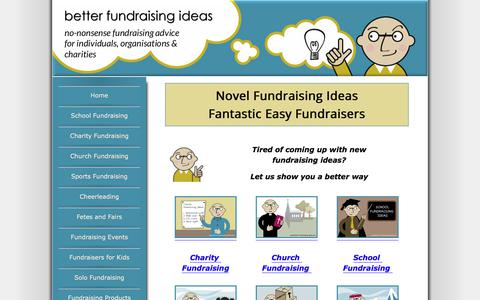 Screenshot of Home Page better-fundraising-ideas.com - Better Fundraising Ideas - Unique Fundraisers - Always With a Twist! - captured Sept. 24, 2018