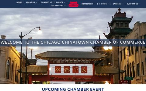 Screenshot of Home Page chicagochinatown.org - Chicago Chinatown Chamber of Commerce - captured Sept. 27, 2018