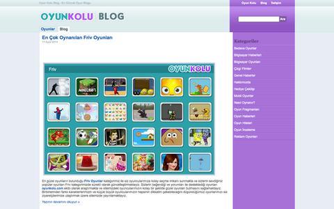 Screenshot of Blog oyunkolu.com - Oyun Kolu Blog - En Güncel Oyun Blogu - captured Sept. 18, 2014