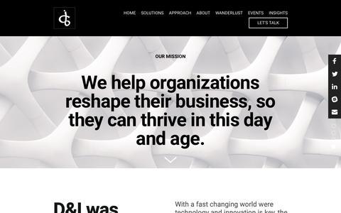 Screenshot of About Page dibusinesssupport.com - About — D&I - captured Sept. 30, 2018