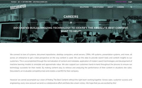 Docurated Careers